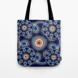 Fantasy flowers with swirling tribal patterns Tote Bag