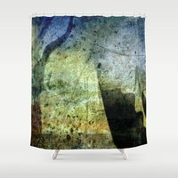 trip Shower Curtains featuring Charon Trip / Strange Trip by Menchulica