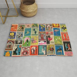Zadro (Vintage Matchbox Wallpaper) Rug