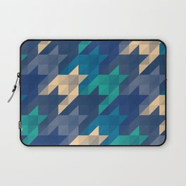 Origami houndstooth blues Laptop Sleeve