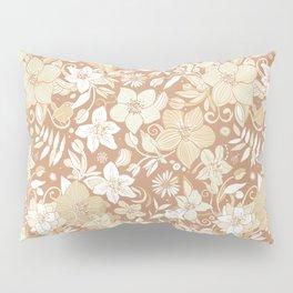 Helleborus and birds | gold Pillow Sham