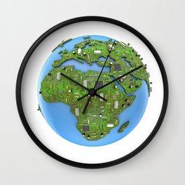 Data Earth Wall Clock
