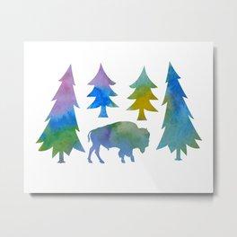 bison / buffalo Metal Print