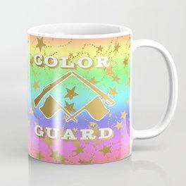 Color Guard Rainbow and Gold Stars Design Coffee Mug
