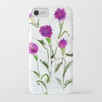 freud iPhone & iPod Cases featuring You Know What Freud Said About Carnations by Kate Havekost Fine Art