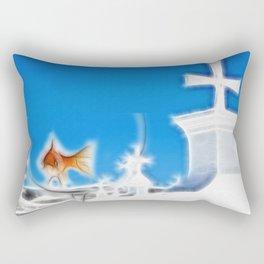 Inside The Glass Rectangular Pillow