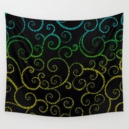 Rainbow Swirls Pop Art Wall Tapestry