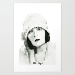 Pola Negri Art Print