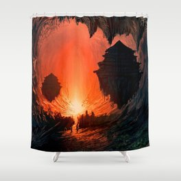 Feudal Cavern Shower Curtain