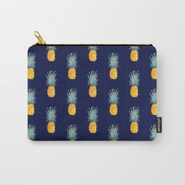 Pineapple Pattern Blue Carry-All Pouch