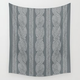 Cable Greys Wall Tapestry