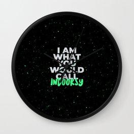Indoorsy Funny Introvert Indoor Wall Clock