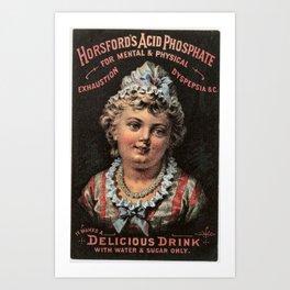 Vintage Advertising Horsfords Acid Phosphate Delicious Drink Art Print