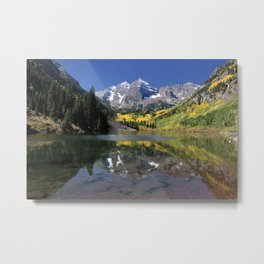 Maroon Bells in Aspen, Colorado Metal Print