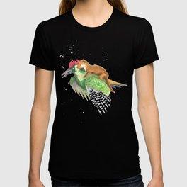 Weasel Rides Woodpecker  T-shirt