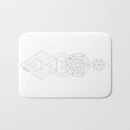 Geometric Universe Mandala Bath Mat