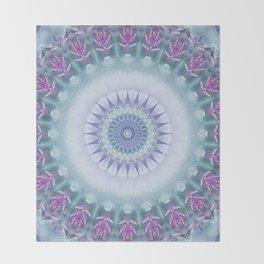 Violet Flowers Mandala Throw Blanket