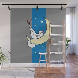 The Cat in the Moonlight is a Slut Wall Mural