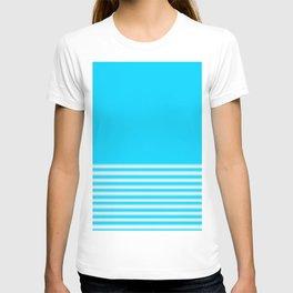 Blue Gradient Stripe T-shirt