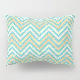 chevron with a twist: aqua + sand Pillow Sham