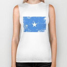 Somalia flag with grunge effect Biker Tank