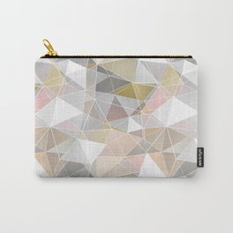 Polygonal pattern in pastel colors. Carry-All Pouch