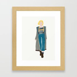 doctor who jodie whittaker 13th Doctor Framed Art Print