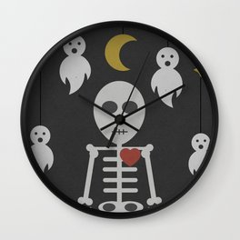 Haunted Graveyard Wall Clock
