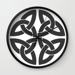 Celtic Shamrock Tribal Knot Wall Clock