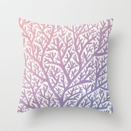 Fan Coral – Rose Quartz & Serenity Throw Pillow