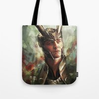 prince Tote Bags featuring The Prince of Asgard by Alice X. Zhang