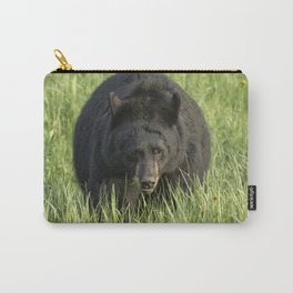 Black Bear Eating Grass in Yellowstone Carry-All Pouch