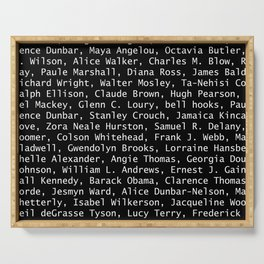 African American Literary Rebels Serving Tray