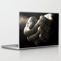 hands Laptop & iPad Skins featuring hands by Ingrid Beddoes