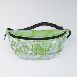 Green frog on a lake in spring Fanny Pack