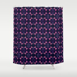 Repeating Fireworks Shower Curtain
