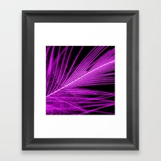 purple feather I Framed Art Print