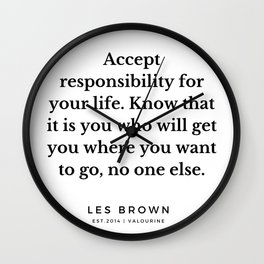 17  |  Les Brown  Quotes | 190824 Wall Clock