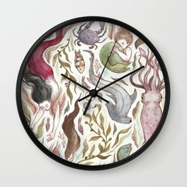 Mermaids and Sea Creatures Wall Clock
