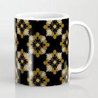 floral pattern Mugs featuring Floral Pattern by Christina Rollo