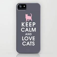 Keep Calm and Love Cats iPhone (5, 5s) Slim Case