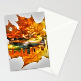 NYC autumn Stationery Cards