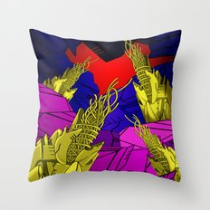 AUTOMATIC WORM 6 Throw Pillow