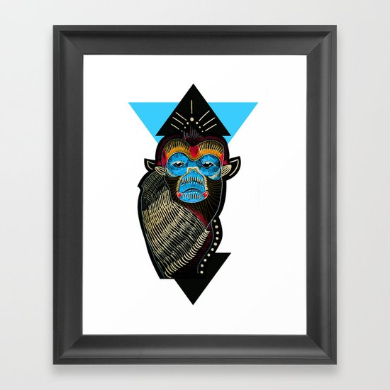 Color me Monkey Framed Art Print