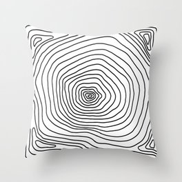 Rings of A Tree Psychedelic Pattern Throw Pillow