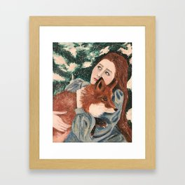 Hunters are hunting Framed Art Print