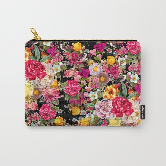 Fashion Botanic Pattern Carry-All Pouch