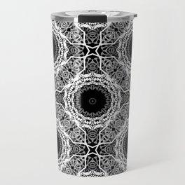 Black and white ornament . Travel Mug