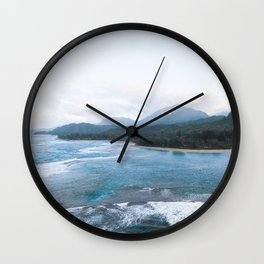 Kauai From Above Wall Clock