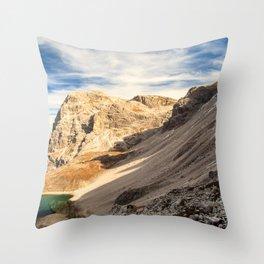 Autumn trekking in the alpine Pusteria valley Throw Pillow